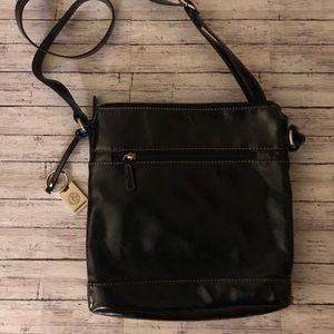 Gianni Bernini black cross body purse